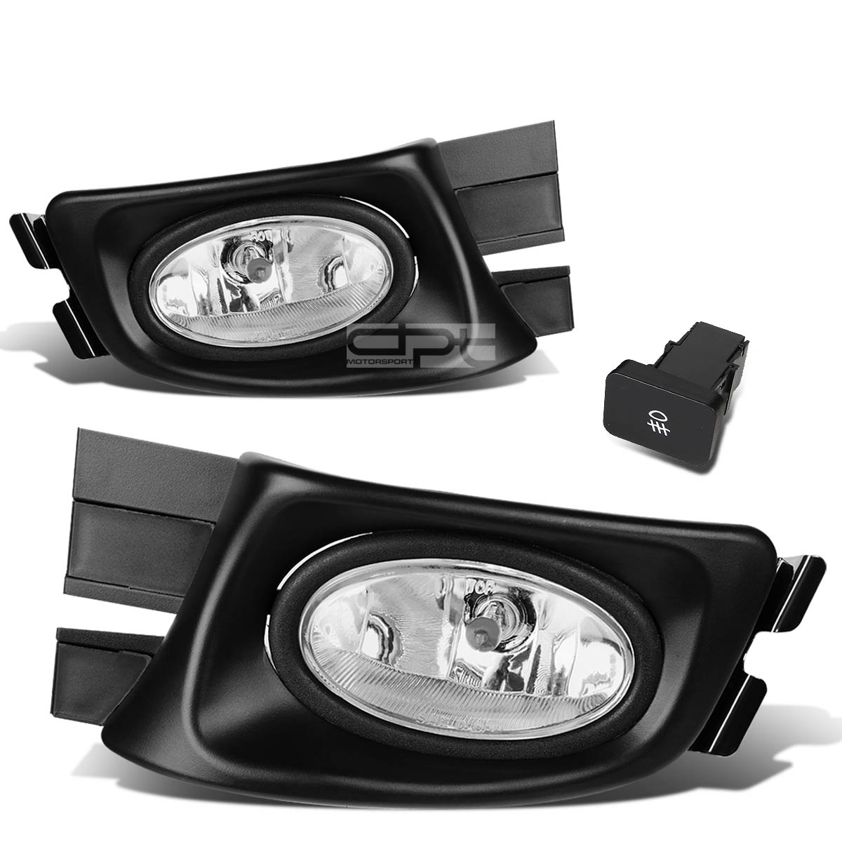 Fit Honda Accord 03-05 4-Dr Sedan Oe Bumper Fog Light Lamp Kit With Switch+Wire