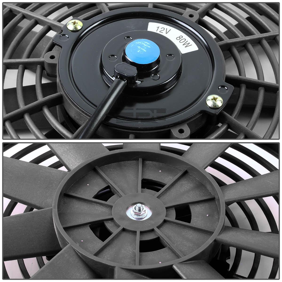 "06-09 HONDA CIVIC SI FG2//FA5 MT TWO ROW ALUMINUM CHROME RADIATOR+10/"" BLACK FANS"