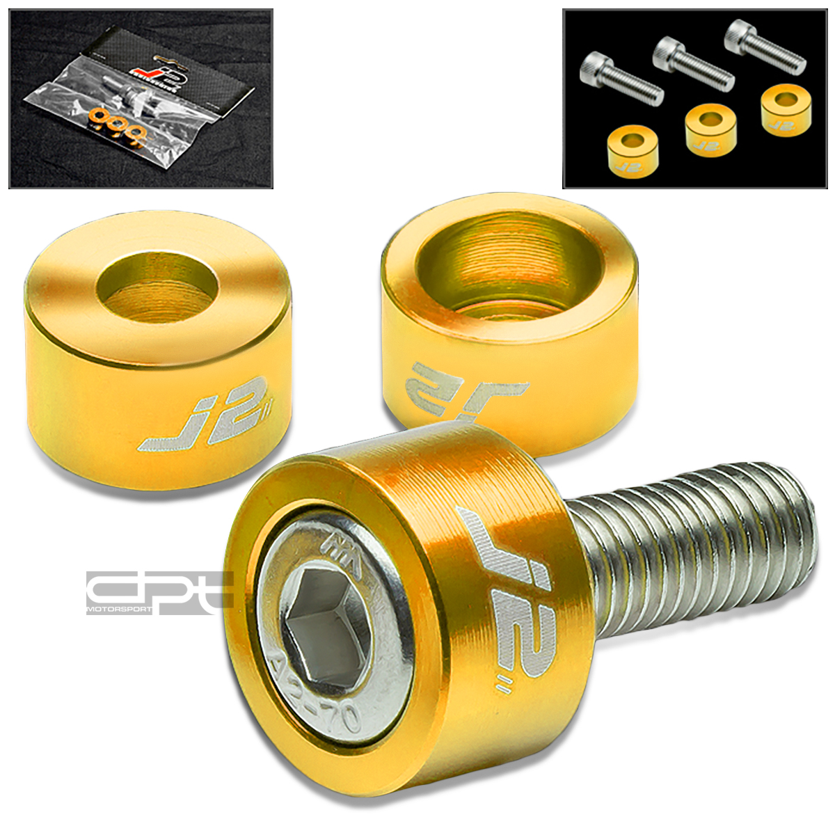 J2 ENGINE IGNITION DISTRIBUTOR METRIC CUP WASHER+BOLT/NUT KIT DC2/AP1/AP2 GOLD